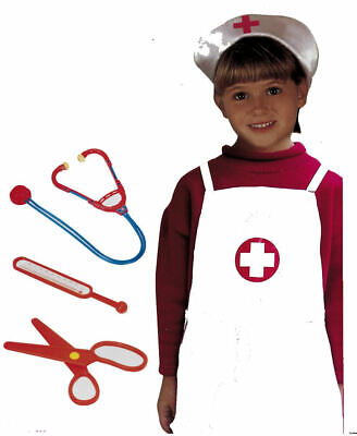 Kids Childrens Girls Dressing Up Nurse Uniform Outfit Set With Play Accessories  • 4.95£