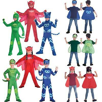 OFFICIAL UK PJ Masks Boys Girls Superhero Kids Child Fancy Dress Costume Outfit • 14.99£