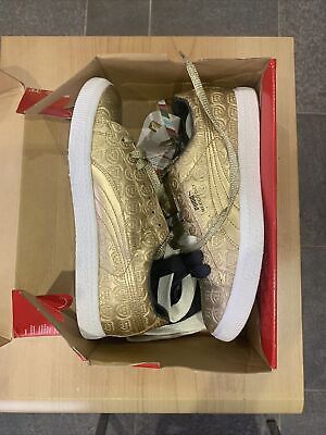 Puma Tommie Smith Clyde, Gold/White, UK 8, Box Fresh After 12 Yrs.. • 300£