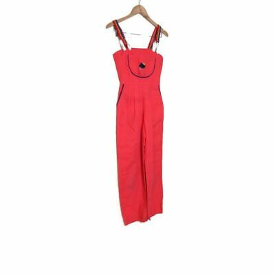 AU63.76 • Buy Vintage 70s 80s Girls Red Coral Overalls XL Or XXXS Womens
