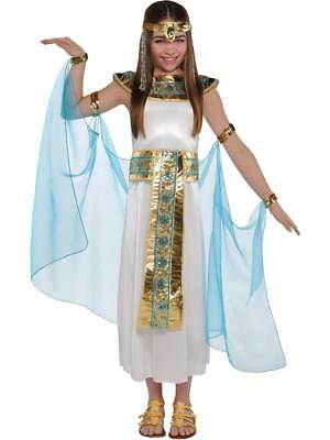 £16.49 • Buy Girls Cleopatra Costume Child Egyptian Queen Toga Fancy Dress Outfit Age 4-14