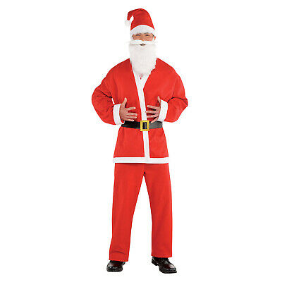 £8.99 • Buy Adults Santa Claus Suit Fancy Dress Budget Costume Father Christmas Outfit Mens