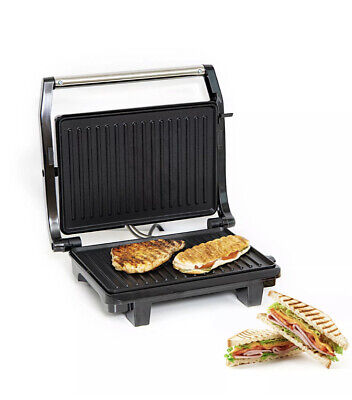Geepas Panini Press Healthy Grill NonStick 1000W Powerful Toaster Sandwich Maker • 29.29£