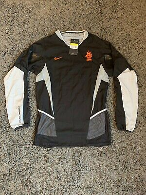 Nike Netherlands Holland 2001 Away/Training Player Issue Football Shirt Black S • 80£