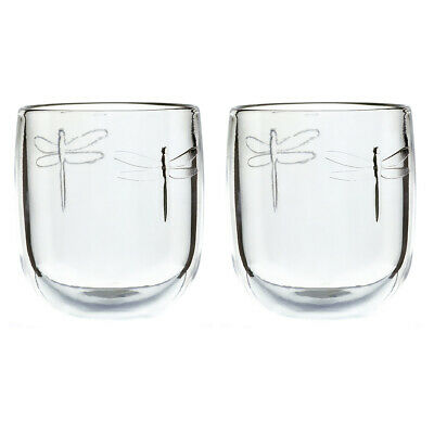 La Rochere Set Of 2 Libellule Tumblers, 28cl Drinks Water Decorated Glassware • 14.35£