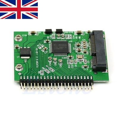 2.5 Inch For Laptop MSATA SSD To 44 Pin IDE Adapter Converter As IDE HDD 5 Volt • 7.49£
