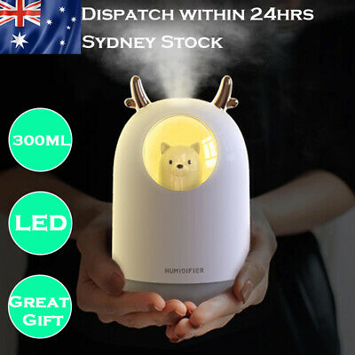AU22.99 • Buy Humidifier USB Aromatherapy Diffuser Aroma Essential Oil LED Air Mist Bear Cute