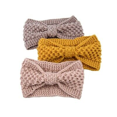 Fashion Winter Knitted Headband Headwrap Crochet Bow Hairband For Women's Girls • 5.03£