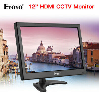 Eyoyo 12inch HDMI LCD Screen CCTV Security Monitor TV PC Display Built-in Mic • 96.90£