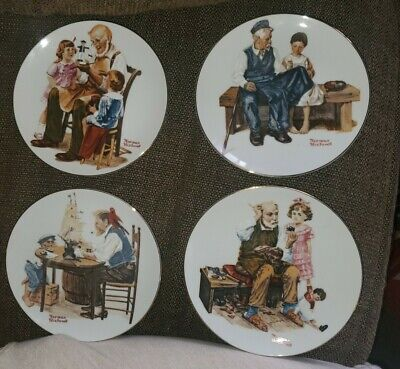 $ CDN31.38 • Buy Norman Rockwell Set Of 4 1982 Plates  Four Beloved Classics  Series  Limited Ed.