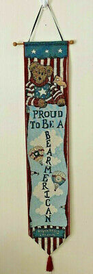 Boyds Bears Proud Bearmerican Patriotic 4th Fourth Of July Bell Pull W / Hanger  • 7.18£