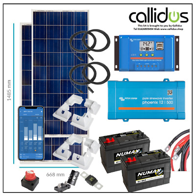£902.99 • Buy Complete Kit Victron Inverter/charger Battery, Solar Charger & 2 X 175 Watt