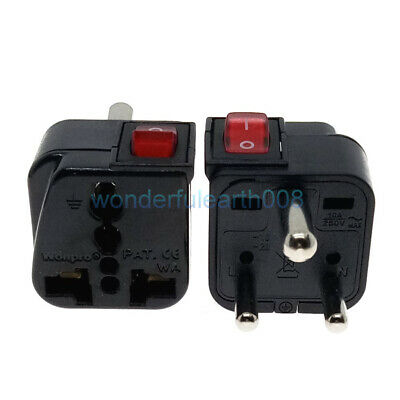 AU12.02 • Buy UNIVERSAL To INDIA Travel Adapter With LED Switch Multi Outlet AC100~250V 10A
