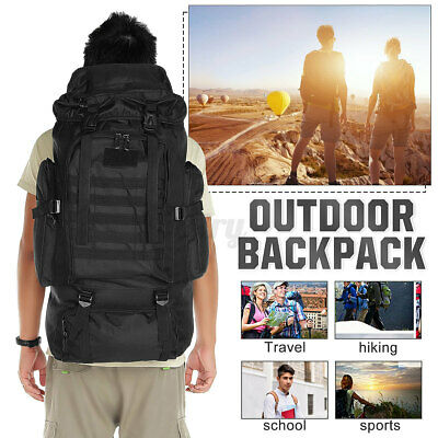 AU28.49 • Buy 80L Outdoor Military Tactical Backpack Bag Hiking Trekking Camping Rucksack AU
