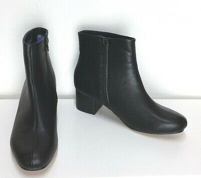 Black Ankle Go-go Boots, Size 6 • 15.99£