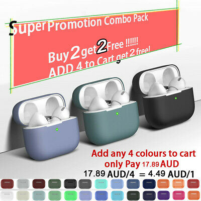 AU8.99 • Buy For AirPods Pro Case Cover Silicone Skin Ultra Slim Holder AirPod 3 Case