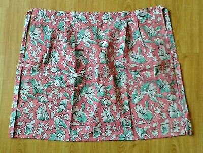 New Ladies Poly/cotton Floral Print Half Waist Catering Apron With Single Pocket • 4.70£
