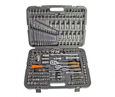 ToolTronix 215 Pcs Ratchet Spanner Socket Set 1/2 1/4 3/8  DR Hand Tool Toolbox • 64.99£
