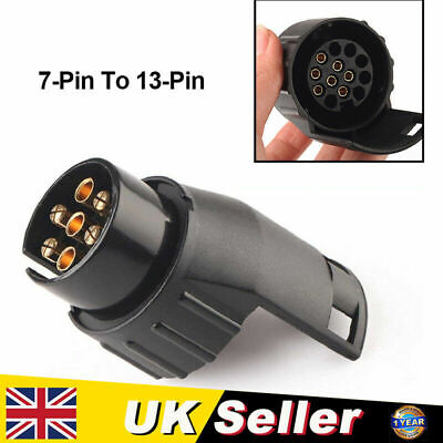 7 To 13 Pin Adaptor 7 Pin On Car To 13 Pin On The Trailer For Towing Electrics • 5.49£