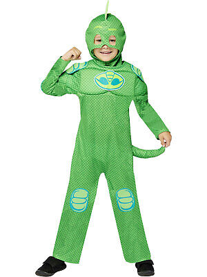Boys PJ Masks Muscle Chest Gekko Fancy Dress Glow In The Dark Costume Superhero • 15.99£