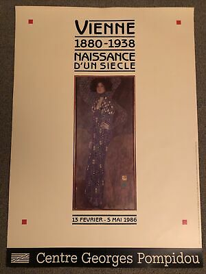 $ CDN43.86 • Buy Vintage Original Gustav Klimt French Museum Expo Poster 1986