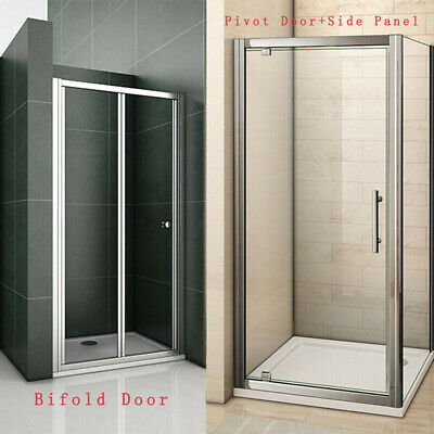 £74.79 • Buy Bifold/Pivot Shower Door Enclosure Walk In Cubicle Side Panel And Stone Tray