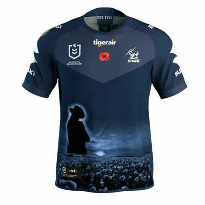£52.96 • Buy Melbourne Storm NRL 2020 ISC Anzac Jersey Adults Size Small!