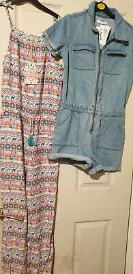 Girls Age 12-13  Years Jumpsuit & Dungarees Fat Face & M&S Nwt • 27£