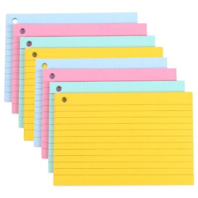 £4.98 • Buy 160x COLOURED REVISION CARDS Pastel Lined Memo Index Flashcards School Office
