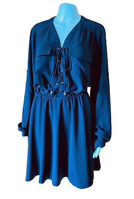 AU39.90 • Buy Forever New-Fit & Flare Lace Up Dress-Size 16