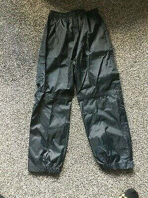 Peter Storm Black Waterproof Trousers Pants Age 9 - 10 • 7.49£