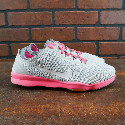 $ CDN22.78 • Buy VGC! Nike Zoom Fit 704658-008 Womens Size 8.5 Training Shoes Gray Pink