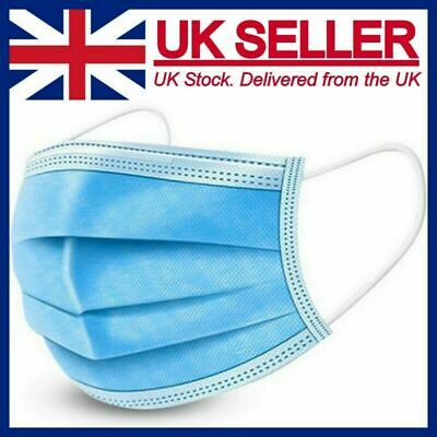 £4.50 • Buy Face Mask Non Surgical Disposable Mouth Cover 3PLY Breathable Respiration Dust