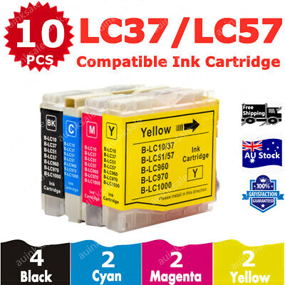 AU12.80 • Buy 10x Compatible Ink Cartridge LC37 LC57 LC-37 LC-57 BK/C/M/Y For Brother Printer