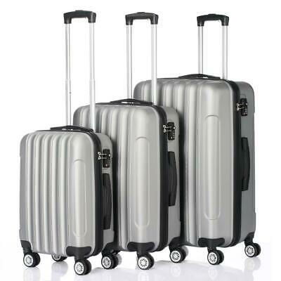 View Details 3PCS Luggage Travel Set Bag ABS Trolley Hard Shell Suitcase W/TSA Lock Gray New • 84.29$
