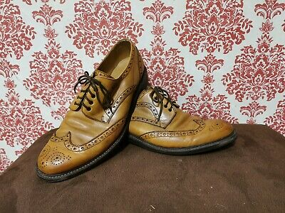 £49.99 • Buy Men's CHARLES TYRWHITT Size 11 UK TAN Leather Lace Up Oxford Brogues Shoes