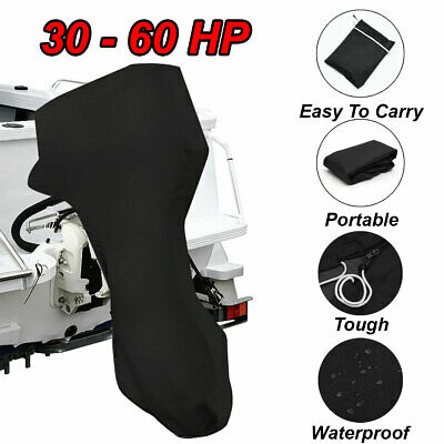 AU39 • Buy 30-60HP 600D Tough Full Outboard Boat Motor Engine Cover Dust Rain Protection