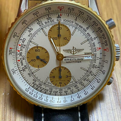 £3331.16 • Buy BREITLING Old Navitimer B13019 Automatic Silver Champagne Yellow Gold Round 451