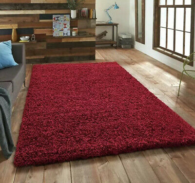 RED HAMPEN RUG 133 X 195cm Thick Pile Warm For Living Room Etc Manchester • 14.99£