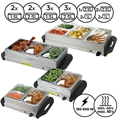 £49.95 • Buy Food Warmer Buffet Server Heater Electric Hot Plate Warming Tray Stainless Steel