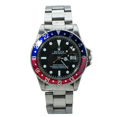 $ CDN15471.71 • Buy Rolex GMT Master 1675 Vintage 1.9 Serial Pepsi Automatic Watch Service Paper 40M