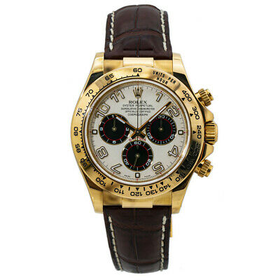 $ CDN39124.97 • Buy Rolex Daytona 116518 18k Gold Panda Dial Automatic Watch With Papers 40MM