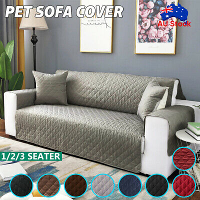 AU20.92 • Buy Sofa Cover 1/2/3 Seater Quilted Couch Covers Lounge Protector Slipcovers Pet Dog