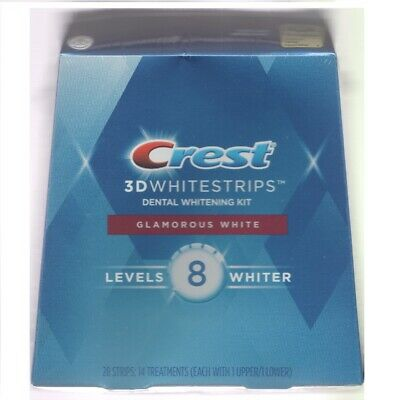 AU87.95 • Buy Crest 3D White 14 X Glamorous White Teeth Whitening Strip Treatments (28 Strips)