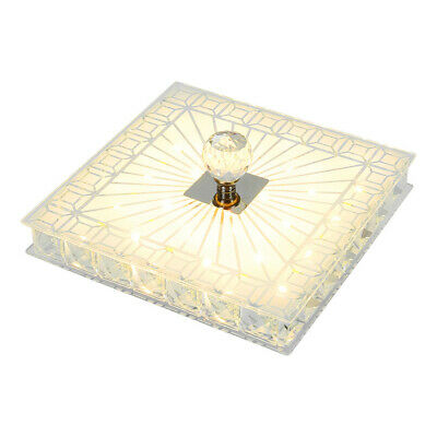 £18.89 • Buy Square Gorgeous LED Crystal Ceiling Down Light Panel Wall Kitchen Bathroom Lamp