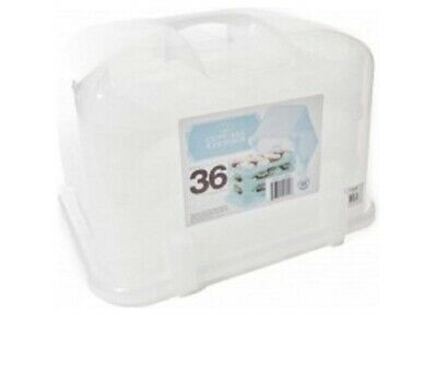 36-Cupcake Courier Carrier Holder Storage Container Petal Clear Travel Case • 35.11£