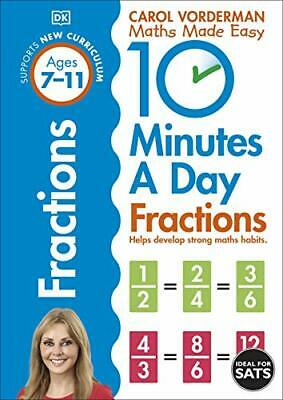 £6.40 • Buy 10 Minutes A Day Fractions By Carol Vorderman (Paperback 2015) New Book