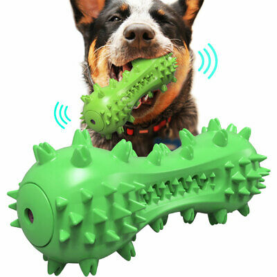 AU19.99 • Buy Dog Squeaky Chew Toys Toothbrush Pet Molar Dental Care Toy Durable Natural Rubbe