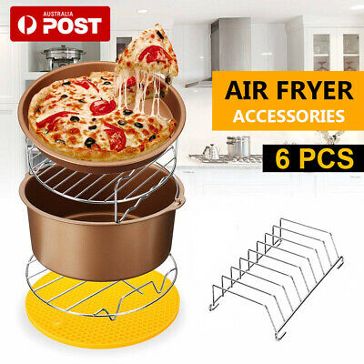 AU21.87 • Buy 7 Inch Air Fryer Accessories Set Baking Barbecue Pan Fit 3.2-6.8QT Air Fry AU