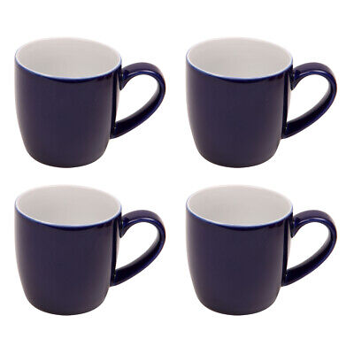 London Pottery Set Of 4 Mugs, Cobalt Blue Coffee Hot Drinks Glossy Coloured • 21.85£